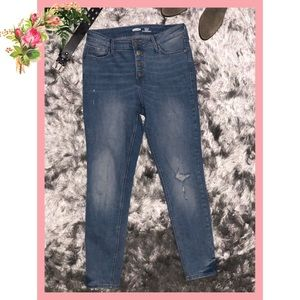 🌸 Old Navy Supper Skinny High Rise Blue Jeans